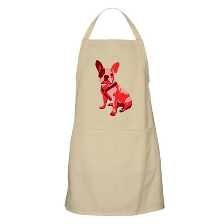 Bulldog Retro Dog Apron