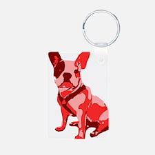 Bulldog Retro Dog Keychains