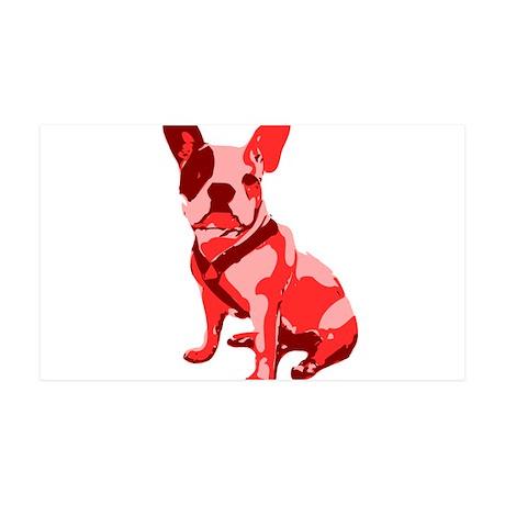 Bulldog Retro Dog 35x21 Wall Decal