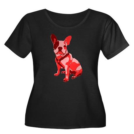 Bulldog Retro Dog Women's Plus Size Scoop Neck Dar