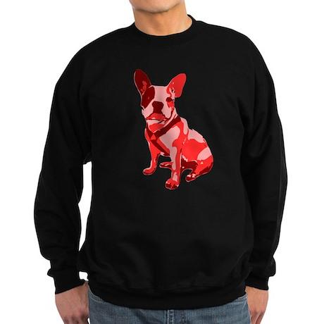 Bulldog Retro Dog Sweatshirt (dark)