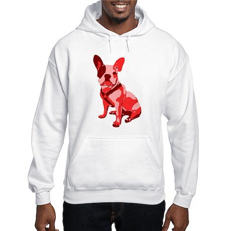 Bulldog Retro Dog Hooded Sweatshirt