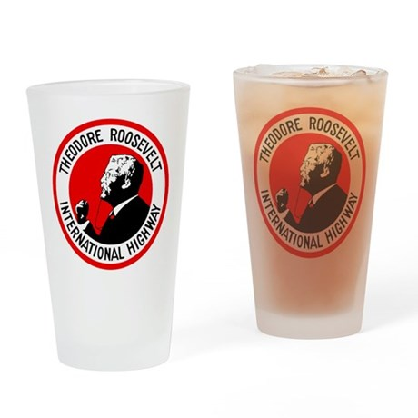 Theodore Roosevelt Highway Drinking Glass