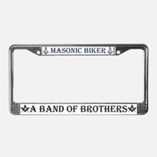 Masonic Biker Brothers License Plate Frame