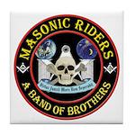 Masonic Biker Brothers Tile Coaster
