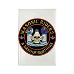 Masonic Biker Brothers Rectangle Magnet