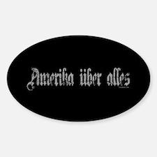 Amerika Uber Alles Sticker (Oval)