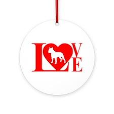 PIT BULL LOVE Ornament (Round)