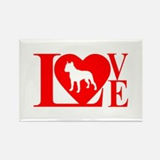 PIT BULL LOVE Rectangle Magnet (10 pack)