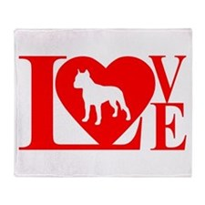 PIT BULL LOVE Throw Blanket