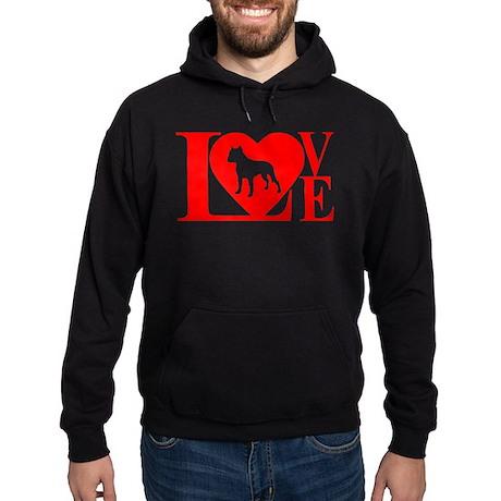PIT BULL LOVE Hoodie (dark)