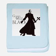 Good Guys Wear Black baby blanket