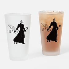 Good Guys Wear Black Drinking Glass