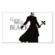 Good Guys Wear Black Decal