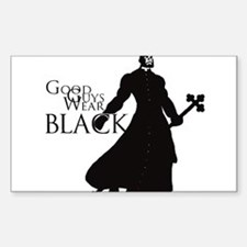 Good Guys Wear Black Sticker (Rectangle)
