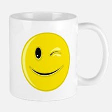 Winking Smiley Face Mug
