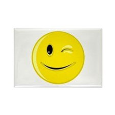 Winking Smiley Face Rectangle Magnet