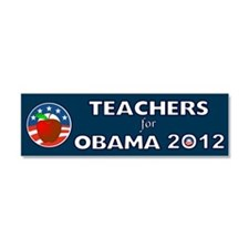Teachers For Obama With Apple Car Magnet 10 x 3