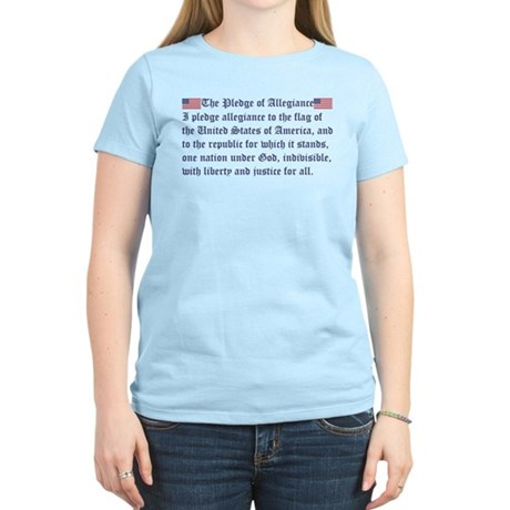 The Pledge of Allegiance Women's Light T-Shirt