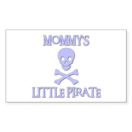 MOMMY'S LITTLE PIRATE Rectangle Sticker