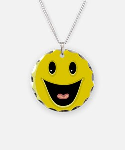 Laughing Smiley Face Necklace