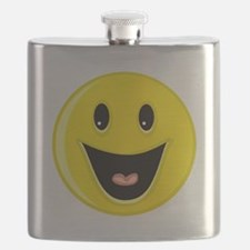 Laughing Smiley Face Flask