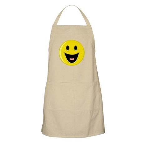 Laughing Smiley Face Apron