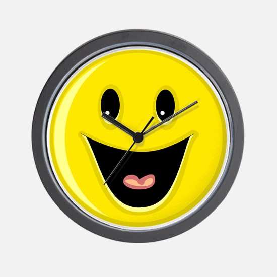 Laughing Smiley Face Wall Clock