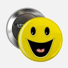 "Laughing Smiley Face 2.25"" Button"