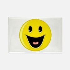 Laughing Smiley Face Rectangle Magnet