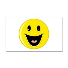 Laughing Smiley Face Car Magnet 20 x 12