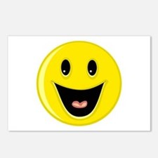Laughing Smiley Face Postcards (Package of 8)