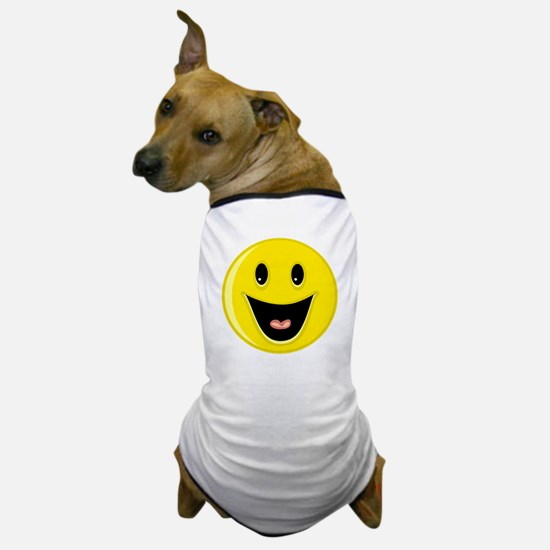 Laughing Smiley Face Dog T-Shirt