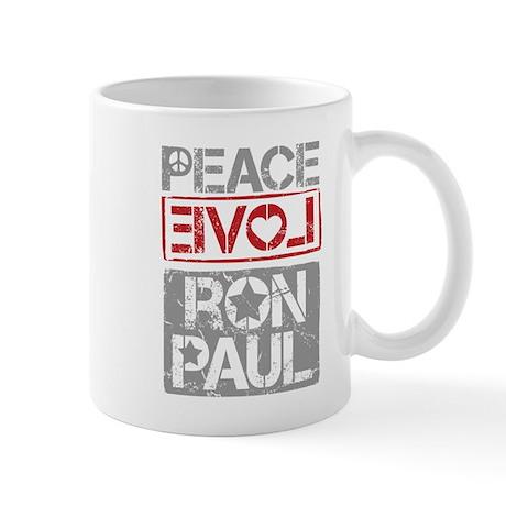 Peace, Love, Ron Paul Mug