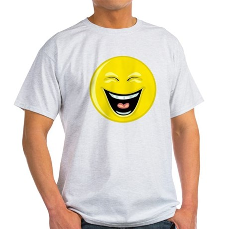 Laughing Smiley Face Light T-Shirt