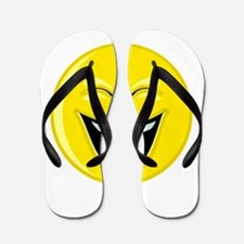 Laughing Smiley Face Flip Flops