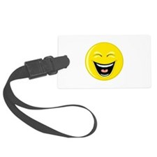 Laughing Smiley Face Luggage Tag