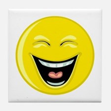 Laughing Smiley Face Tile Coaster