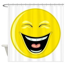 Laughing Smiley Face Shower Curtain