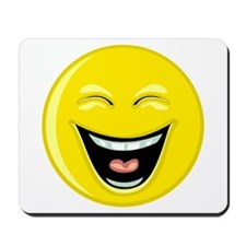 Laughing Smiley Face Mousepad