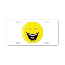Laughing Smiley Face Aluminum License Plate