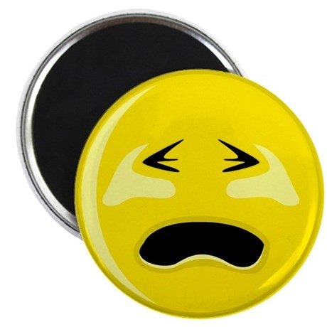 """Crying Smiley Face 2.25"""" Magnet (100 pack)"""