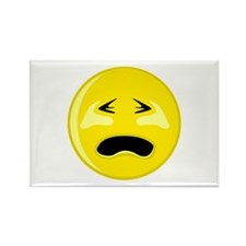 Crying Smiley Face Rectangle Magnet
