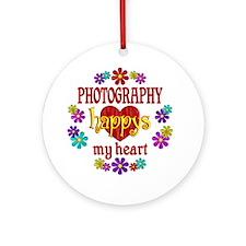 Photography Happy Ornament (Round)