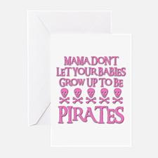 BABY PIRATES Greeting Cards (Pk of 10)