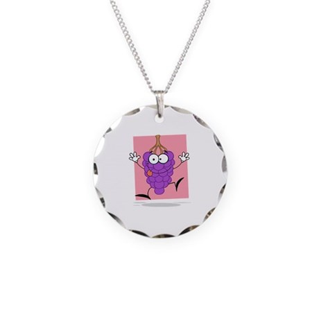 Grapes Necklace Circle Charm