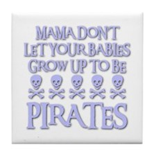 BABY PIRATES Tile Coaster