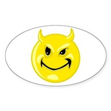 Devil Smiley Face Decal