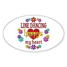 Line Dancing Happy Decal