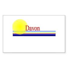 Davon Rectangle Decal